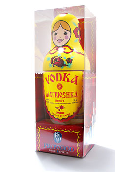 Vodka Matrioshka Honey Gift Box